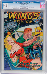Wings Comics #82 (Fiction House, 1947) CGC NM 9.4 Cream to off-white pages