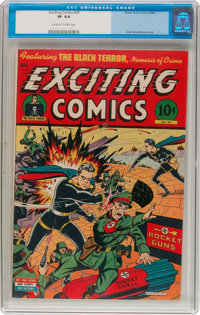 Exciting Comics #34 (Better, 1944) CGC VF 8.0 Off-white to white pages
