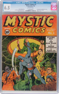 Golden Age (1938-1955):Superhero, Mystic Comics #1 (Timely, 1940) CGC FN+ 6.5 Off-white pages....