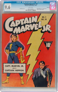 Captain Marvel Jr. #2 Vancouver Pedigree (Fawcett Publications, 1942) CGC NM+ 9.6 White pages