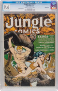 Golden Age (1938-1955):Adventure, Jungle Comics #32 Double Cover (Fiction House, 1942) CGC NM+ 9.6 Cream to off-white pages....