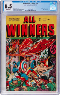 All Winners Comics #11 (Timely, 1943) CGC FN+ 6.5 Off-white pages