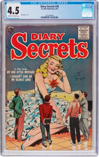 Diary Secrets #30 (St. John, 1955) CGC VG+ 4.5 Cream to off-white pages