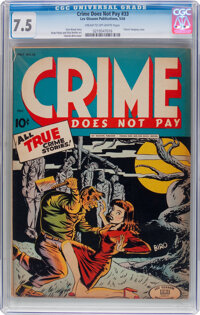 Crime Does Not Pay #33 (Lev Gleason, 1944) CGC VF- 7.5 Cream to off-white pages