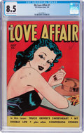 Golden Age (1938-1955):Romance, My Love Affair #1 (Fox Features Syndicate, 1949) CGC VF+ 8.5 Creamto off-white pages....