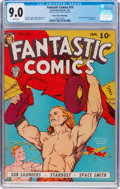 Golden Age (1938-1955):Superhero, Fantastic Comics #14 Mile High Pedigree (Fox, 1941) CGC VF/NM 9.0 White pages....