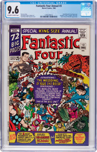 Fantastic Four Annual #3 (Marvel, 1965) CGC NM+ 9.6 Off-white to white pages