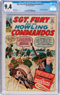 Silver Age (1956-1969):War, Sgt. Fury and His Howling Commandos #3 (Marvel, 1963) CGC NM 9.4 Off-white pages....