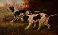 Paintings, Thomas Dalton Beaumont (American, 1867-1930). Two Hunting Dogs. Oil on canvas. 22-1/4 x 36-1/8 inches (56.5 x 91.8 cm). ...