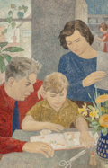 Fine Art - Painting, American:Modern  (1900 1949)  , Frances Foy (American, 1890-1963). The Album, 1938. Oil onMasonite. 34 x 22 inches (86.4 x 55.9 cm). Signed and dated l...