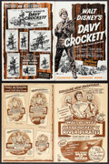 "Movie Posters:Western, Davy Crockett, King of the Wild Frontier & Other Lot (Buena Vista, 1955). Uncut Pressbooks (2) (Multiple Pages, 12"" X 18""). ... (Total: 2 Items)"