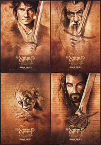 """The Hobbit: An Unexpected Journey (New Line, 2012). IMAX Exclusive Mini Poster Set of 4 (13.5"""" X 19.5"""") SS. Fa..."""