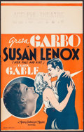 "Movie Posters:Drama, Susan Lenox (Her Fall and Rise) (MGM, 1931). Window Card (14"" X 22""). Drama.. ..."
