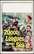 """Movie Posters:Science Fiction, 20,000 Leagues Under the Sea (Buena Vista, R-1963). Window Card(14"""" X 22""""). Science Fiction.. ..."""