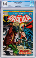 Bronze Age (1970-1979):Horror, Tomb of Dracula #10 (Marvel, 1973) CGC VF 8.0 Off-white to whitepages....