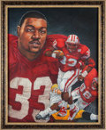 Football Collectibles:Others, 1996 Ron Dayne Heisman Trophy Winner Original Artwork by Ted Watts. ...