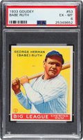 Baseball Cards:Singles (1930-1939), 1933 Goudey Babe Ruth #53 PSA EX-MT 6....