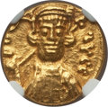 Ancients:Byzantine, Ancients: Constantine IV (AD 668-685). AV solidus (4.35gm).NGC MS 4/5 - 5/5....
