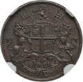 India:British India, India: British India. Madras Presidency Pie AH 1240 (1825) MS63 Brown NGC,...
