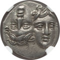 Ancients:Greek, Ancients: MOESIA. Istrus. Ca. 350 BC. AR drachm (5.83 gm). NGCChoice AU ★ 5/5 - 5/5....