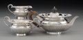Silver Holloware, British:Holloware, A Three-Piece Maxfield & Sons Silver Bachelor's Tea Set
