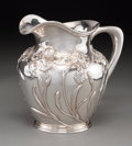 Silver Holloware, American:Pitchers, A Shreve & Co. Silver Pitcher with Iris Motif, San Francisco,California, early 20th century. Marks: SHREVE & CO, SANFRAN...