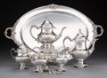 Silver Holloware, American:Tea Sets, A Six-Piece Wallace Grand Baroque Pattern Silver Tea andCoffee Service with Three Reed & Barton Silver Teaspoons...(Total: 9 Items)
