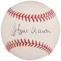 Autographs:Baseballs, Hank Aaron Single Signed Baseball. . ...