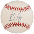 Autographs:Baseballs, Nolan Ryan Single Signed Baseball.. ...