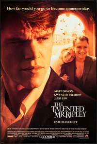 "The Talented Mr. Ripley & Others Lot (Paramount, 1999). One Sheets (3) (27"" X 40"" & 27"" X 41""..."