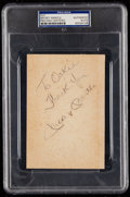 Autographs:Index Cards, Mickey Mantle Signed Cut Signature. . ...