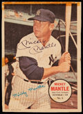Autographs:Sports Cards, Signed 1967 Topps Pin-Up Poster Mickey Mantle #6.. ...