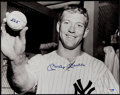 """Baseball Collectibles:Photos, 1990's Mickey Mantle """"565"""" Signed Oversized Photograph.. ..."""