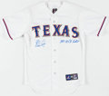 "Autographs:Jerseys, Nolan Ryan Signed ""100.7 MPH Fastball"" Texas Rangers Jersey. . ..."