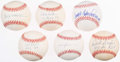 Autographs:Baseballs, Rookies of The Year Single Signed Baseball Lot of 6.. ...