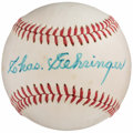 Autographs:Baseballs, Charlie Gehringer Single Signed Baseball, PSA/DNA Near Mint 7. ....