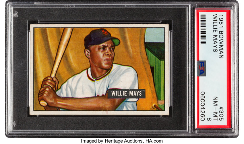 Baseball CardsSingles 1950 1959 1951 Bowman Willie Mays 305