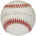 Autographs:Baseballs, Charlie Gehringer Single Signed Baseball. . ...