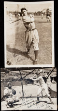 Baseball Collectibles:Photos, Pee Wee Reese Signed Vintage Photograph Pair (2). . ...