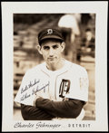 Autographs:Photos, Charlie Gehringer Signed Type 1 Photograph.. ...