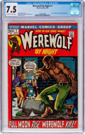 Bronze Age (1970-1979):Horror, Werewolf by Night #1 (Marvel, 1972) CGC VF- 7.5 Off-white to whitepages....