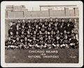 Football Collectibles:Photos, 1941 Chicago Bears Type 1 Team Photograph by George Burke.. ...