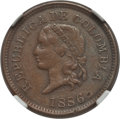 Colombia, Colombia: Republic copper Pattern Centavo 1886 XF40 BrownNGC, ...