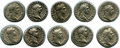 Ancients:Roman Imperial, Ancients: ROMAN EMPIRE: Domitian (AD 81-96). Lot of ten (10) ARdenarii. VF - XF.... (Total: 10 coins)