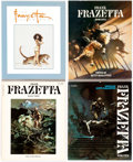 Memorabilia:Books, Frank Frazetta Art Book Reference Group of 14 (Various Publishers,1970s-90s).... (Total: 14 Items)