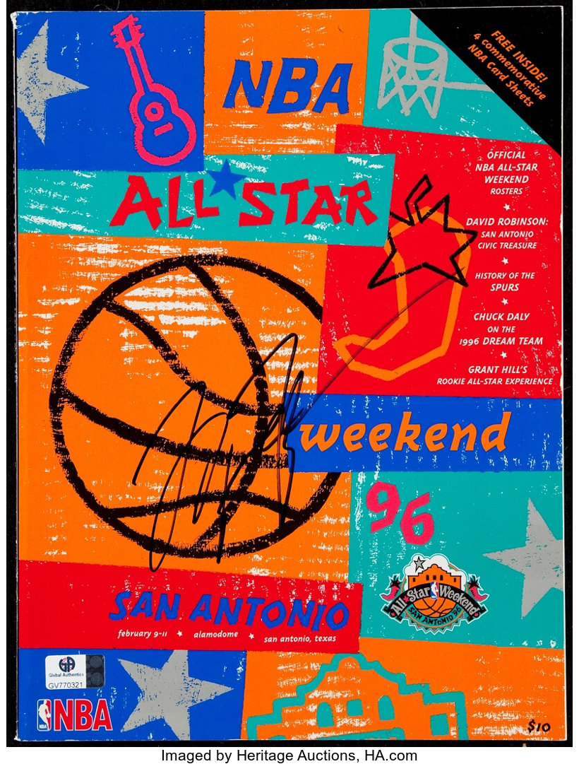 Signed Michael Jordan 1995-96 NBA All-Star Game Program