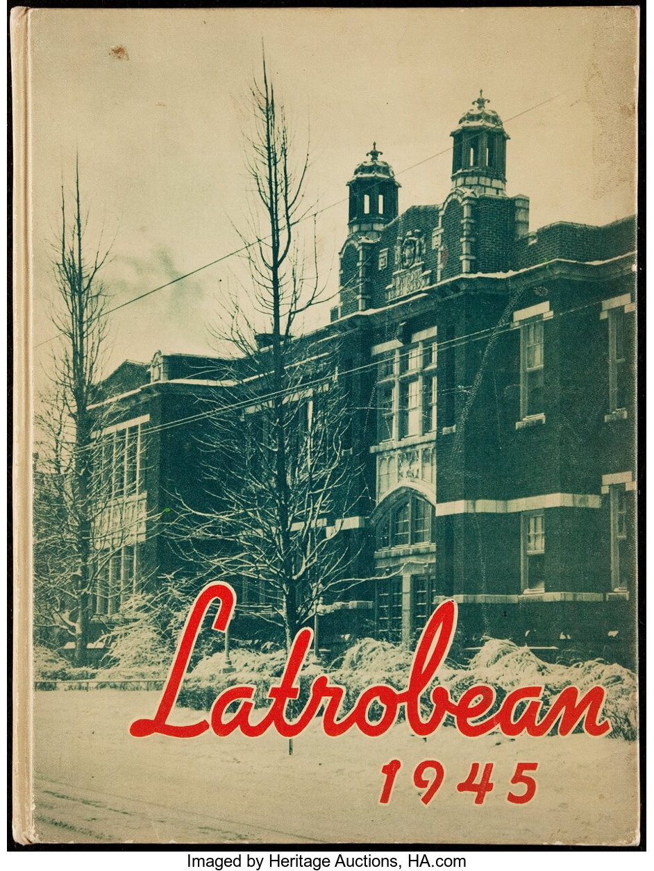 1945 Latrobe High School Yearbook Includes Arnold Palmer Fred Lot 43342 Heritage Auctions