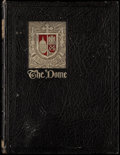 "Football Collectibles:Uniforms, 1929 Notre Dame ""The Dome"" Yearbook, with Knute Rockne.. ..."
