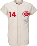 Baseball Collectibles:Uniforms, 1968 Pete Rose Game Worn & Signed Cincinnati Reds Jersey, MEARS A10.. ...