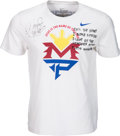 Boxing Collectibles:Memorabilia, 2015 Manny Pacquiao Fight Worn Walk In Shirt vs. Floyd Mayweather with Pacquiao Letter - Photo Matched. . ...